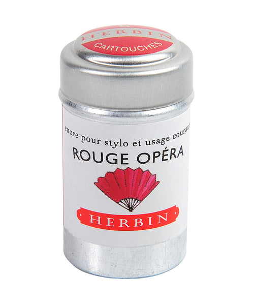 J Herbin Ink Cartridges - Rouge Opera (Red Opera)