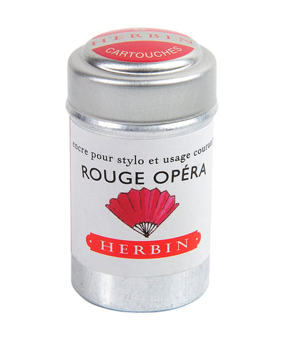 J Herbin Ink Cartridges - Rouge Opéra (Red Opera)