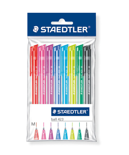 Staedtler 423 Ballpoint Pens - 8 Assorted Colours