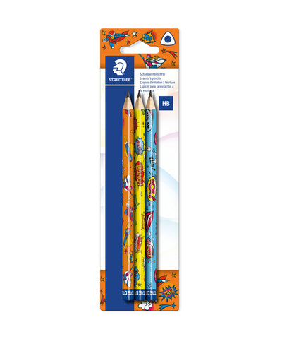 Staedtler Comic Art HB Jumbo Pencil - Assorted Pack of 3