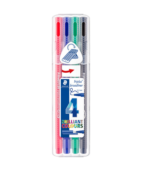 Staedtler Triplus Broadliner Pens - 4 Assorted Colours