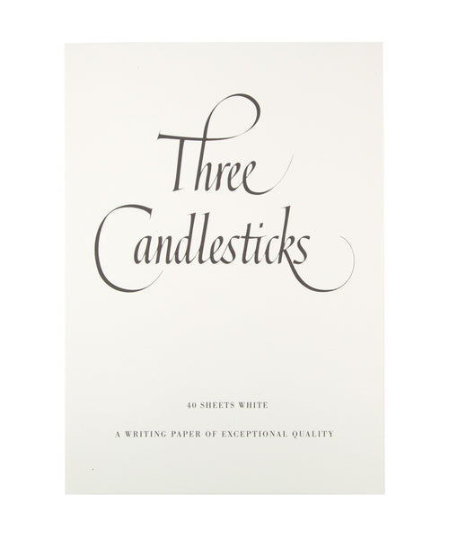 Three Candlesticks Writing Paper - A4