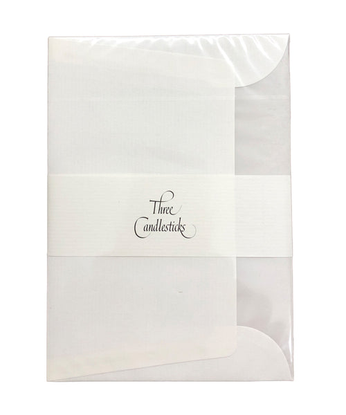 Three Candlesticks Envelopes - C6