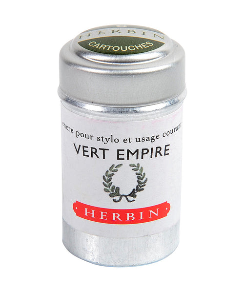 J Herbin Ink Cartridges - Vert Empire (Empire Green)