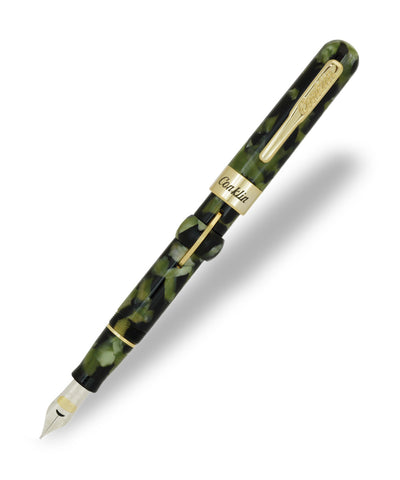 Conklin Crescent Filler Fountain Pen - Vintage Green