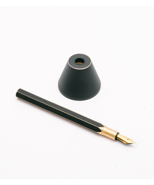 Ystudio Brassing Desk Fountain Pen - Black