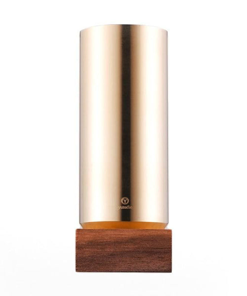 Ystudio Pen Container - Brass & Walnut