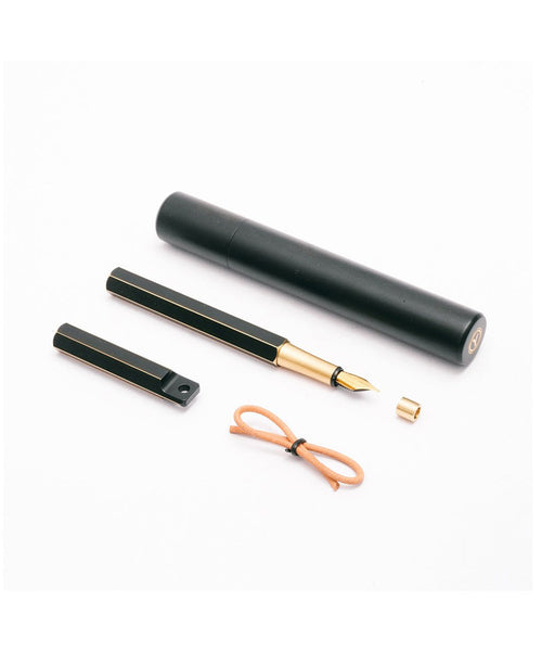 Ystudio Brassing Portable Fountain Pen - Black