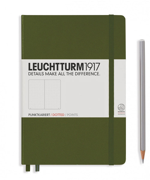 Leuchtturm1917 Medium (A5) Hardcover Notebook - Army