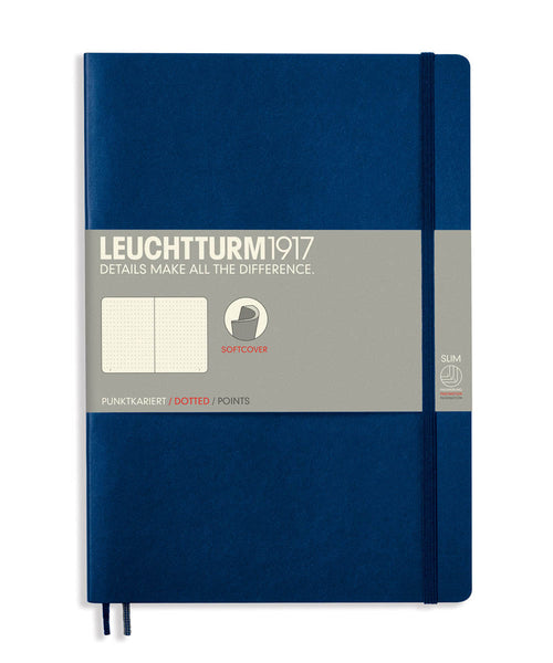 Leuchtturm1917 Composition (B5) Softcover Notebook - Navy