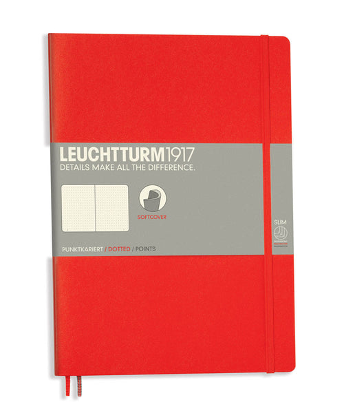 Leuchtturm1917 Composition (B5) Softcover Notebook - Red