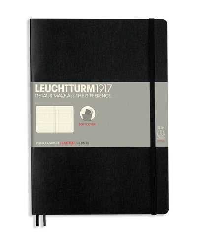 Leuchtturm1917 Composition (B5) Softcover Notebook - Black
