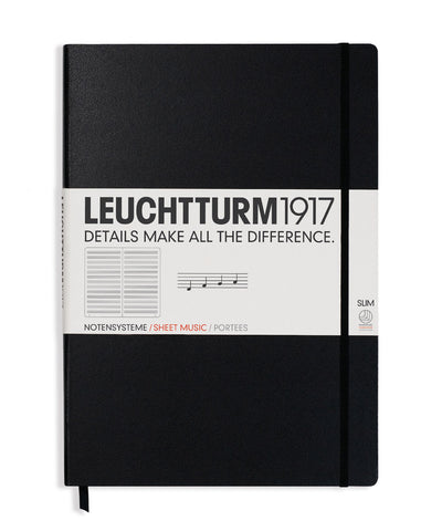 Leuchtturm1917 Master Slim (A4+) Hardcover Musicians Notebook with Staves