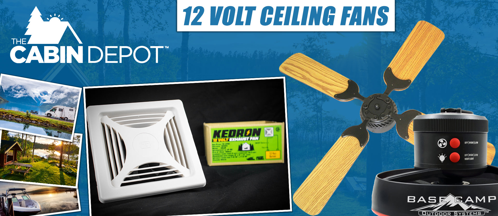 12V Ceiling Fan The Cabin Depot ™ Canada