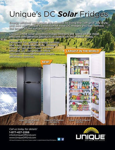 Unique's DC Solar Fridges