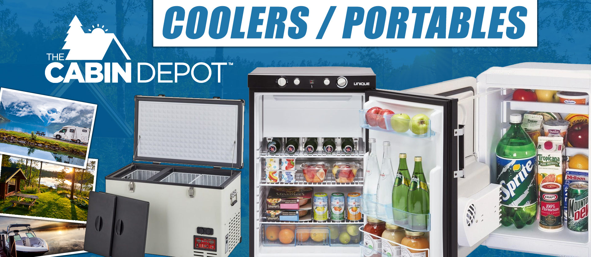 Portable 12v DC Coolers Canada 3-way refrigerators RV off-grid