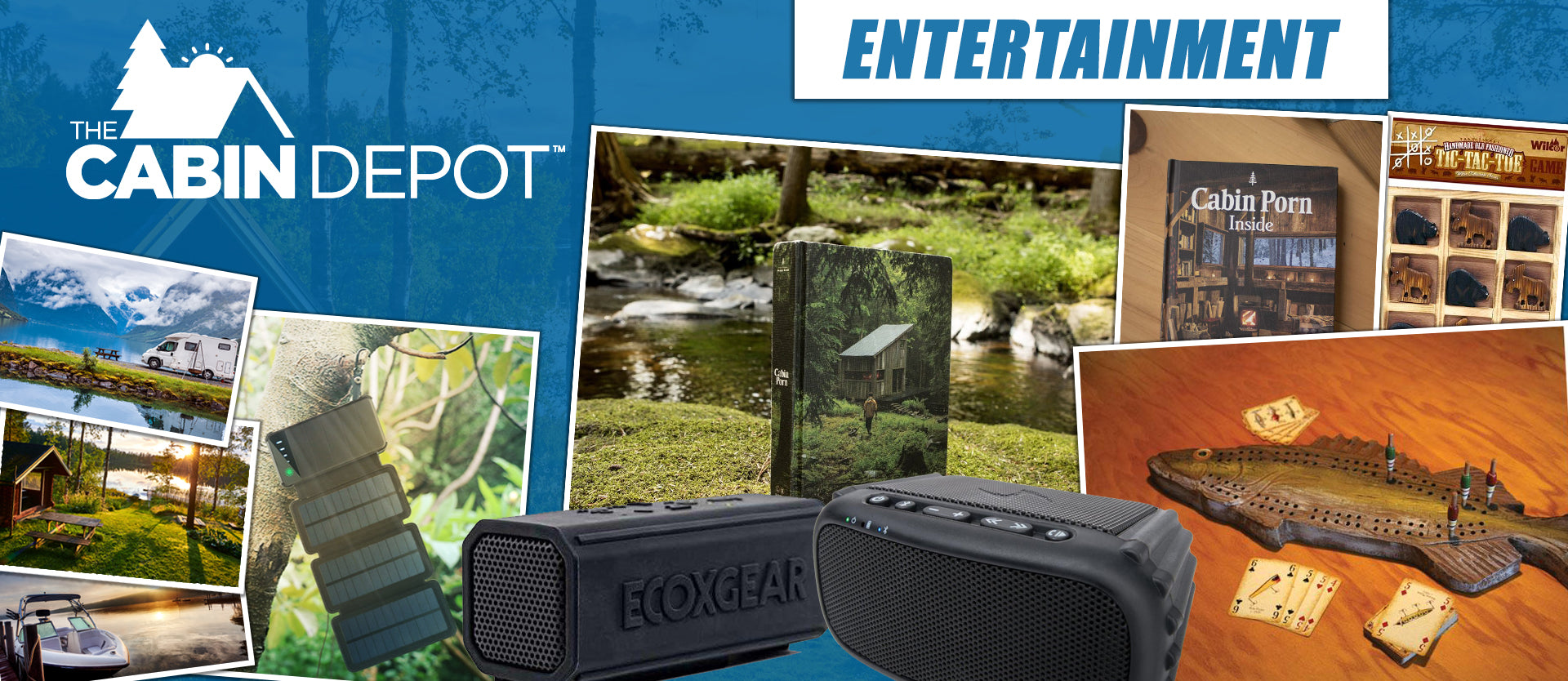 The Cabin Depot ™ Entertainment Canada Bluetooth Speakers Games