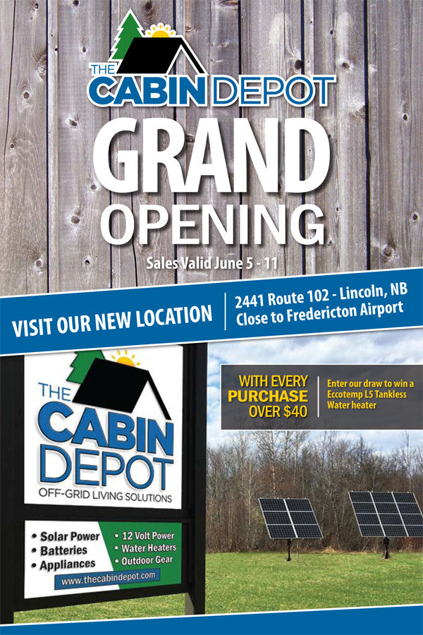 The Cabin Depot - Grand Opening Flyer!