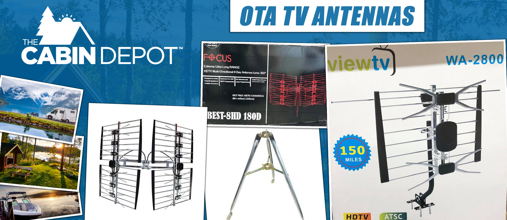 OTA TV Antenna Off Grid The Cabin Depot ™ Canada