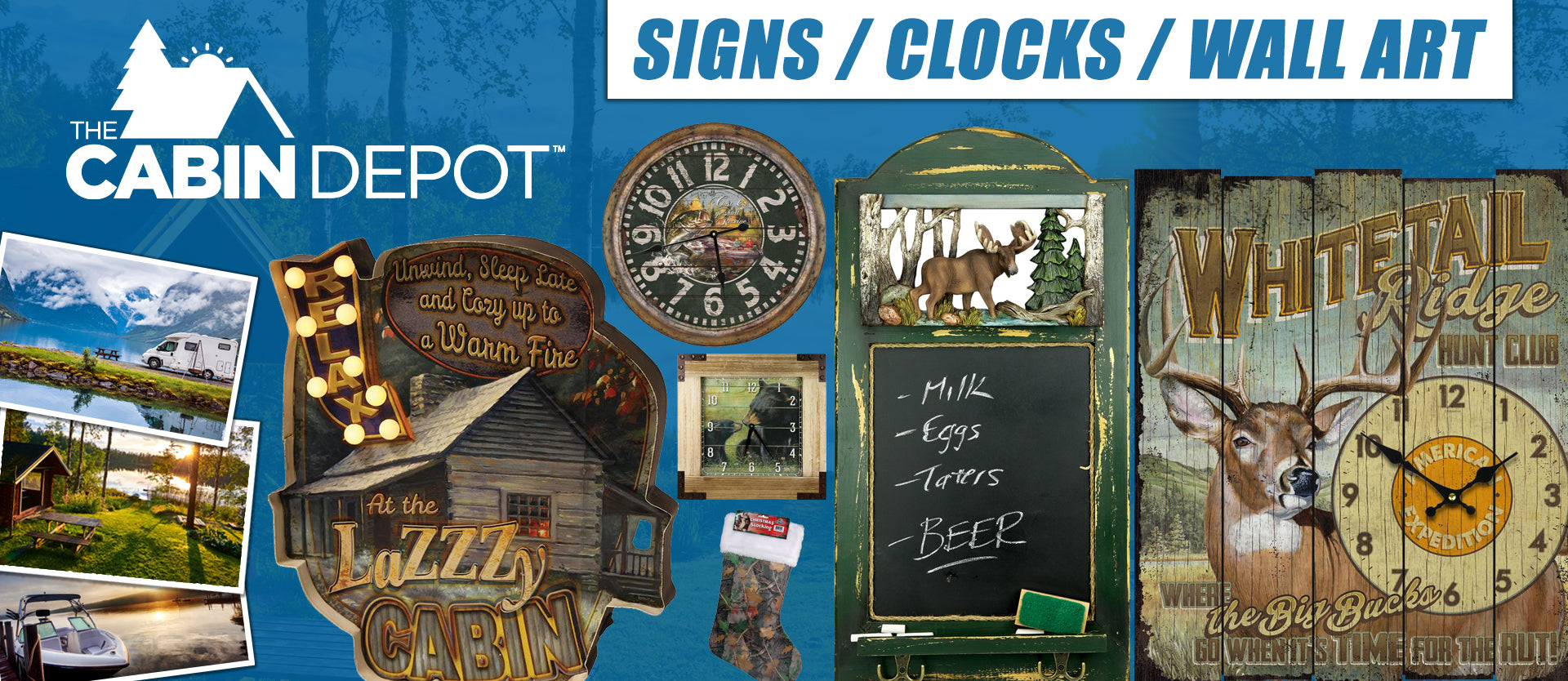 Wall Art Clocks Decor Signs The Cabin Depot ™ Off Grid Canada