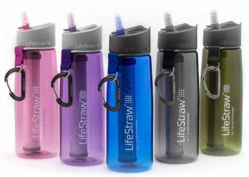 LifeStraw Go 2-Stage Filtration Water Filtration Eartheasy- The Cabin Depot Off-Grid Off Grid Living Solutions Cabin Cottage Camp Solar Panel Water Heater Hunting Fishing Boats RVs Outdoors