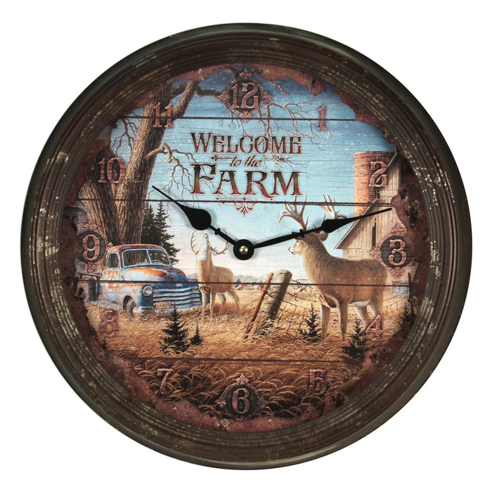 "15"" Rusted Clock"