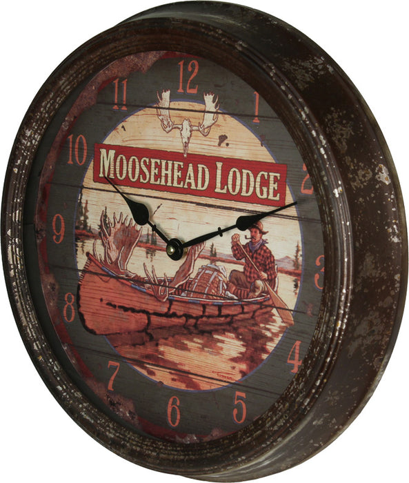"15"" Rusted Clock Leisure The Cabin Depot- The Cabin Depot Off-Grid Off Grid Living Solutions Cabin Cottage Camp Solar Panel Water Heater Hunting Fishing Boats RVs Outdoors"