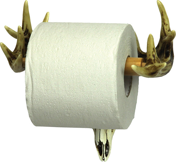 Euro Deer Toilet Paper Holder  The Cabin Depot- The Cabin Depot Off-Grid Off Grid Living Solutions Cabin Cottage Camp Solar Panel Water Heater Hunting Fishing Boats RVs Outdoors