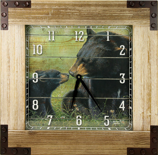 Clock Wood Frame 24 Inch