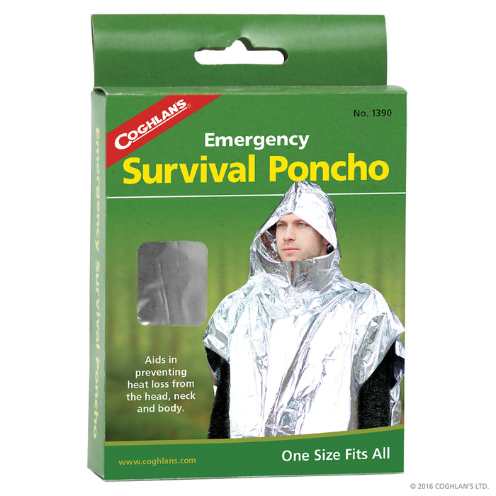 Coghlans Emergency Survival Poncho Camping / Outdoors Coghlans- The Cabin Depot Off-Grid Off Grid Living Solutions Cabin Cottage Camp Solar Panel Water Heater Hunting Fishing Boats RVs Outdoors