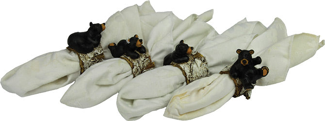 4 Piece Napkin Rings  The Cabin Depot- The Cabin Depot Off-Grid Off Grid Living Solutions Cabin Cottage Camp Solar Panel Water Heater Hunting Fishing Boats RVs Outdoors