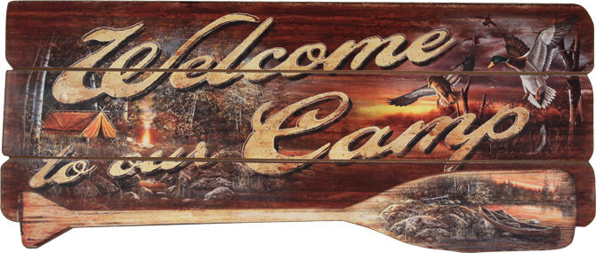 Large Decorative Signs Leisure Rivers Edge- The Cabin Depot Off-Grid Off Grid Living Solutions Cabin Cottage Camp Solar Panel Water Heater Hunting Fishing Boats RVs Outdoors