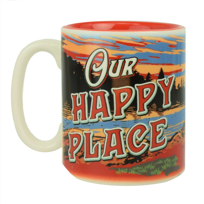 Ceramic Mug 16oz - Happy Place