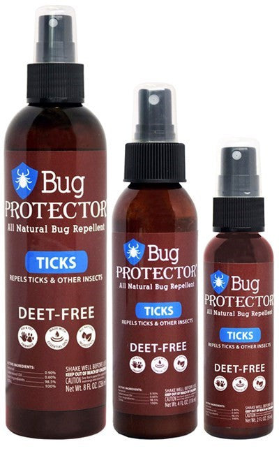 Bug Protector - Tick Spray 4 OZ Insect repellent The Cabin Depot- The Cabin Depot Off-Grid Off Grid Living Solutions Cabin Cottage Camp Solar Panel Water Heater Hunting Fishing Boats RVs Outdoors