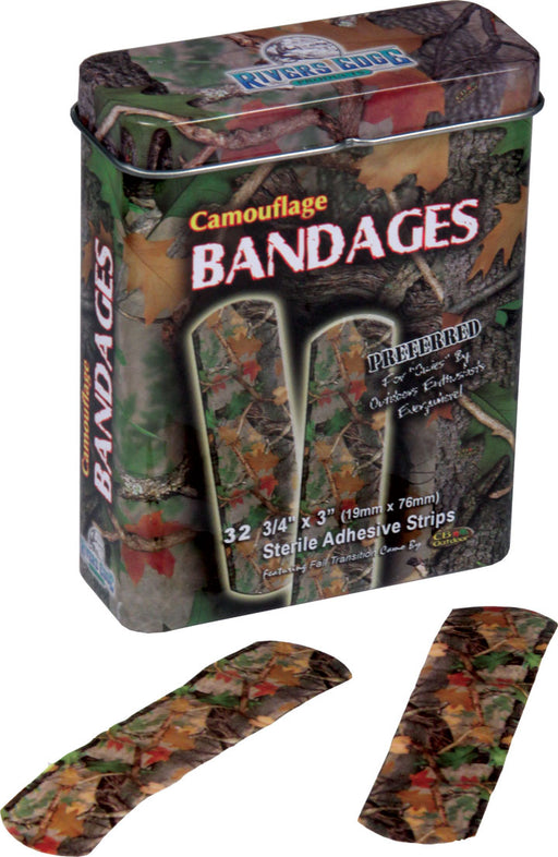 Camo Bandages 15 Pc Leisure Rivers Edge- The Cabin Depot Off-Grid Off Grid Living Solutions Cabin Cottage Camp Solar Panel Water Heater Hunting Fishing Boats RVs Outdoors