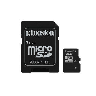 Kingston 8 gb Micro SD card with SD adapter Accessories Kingston- The Cabin Depot Off-Grid Off Grid Living Solutions Cabin Cottage Camp Solar Panel Water Heater Hunting Fishing Boats RVs Outdoors