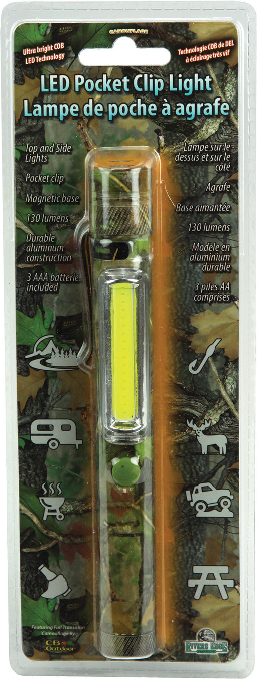 Camo Magnetic Clip Light Leisure Rivers Edge- The Cabin Depot Off-Grid Off Grid Living Solutions Cabin Cottage Camp Solar Panel Water Heater Hunting Fishing Boats RVs Outdoors