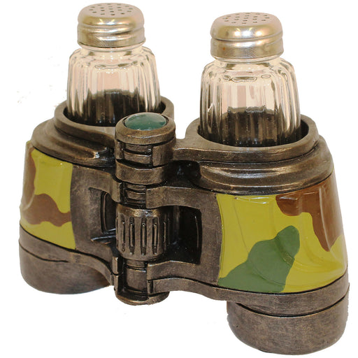 Binocular Salt & Pepper Shaker Leisure Wildlife Creations- The Cabin Depot Off-Grid Off Grid Living Solutions Cabin Cottage Camp Solar Panel Water Heater Hunting Fishing Boats RVs Outdoors