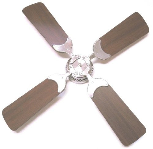 Global Electric 36-inch Non-Brush DC12V Ceiling Fan, Brushed Nickel with Remote Control, Light Cherry/Cherry  The Cabin Depot- The Cabin Depot Off-Grid Off Grid Living Solutions Cabin Cottage Camp Solar Panel Water Heater Hunting Fishing Boats RVs Outdoors