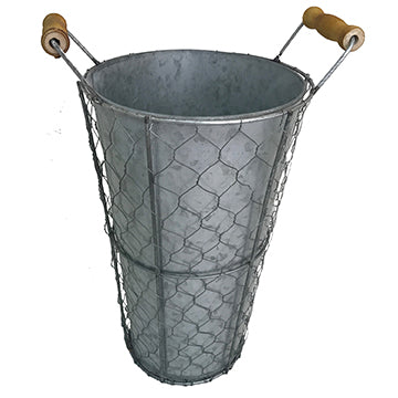 15″ Chicken Wire Bucket Leisure Wildlife Creations- The Cabin Depot Off-Grid Off Grid Living Solutions Cabin Cottage Camp Solar Panel Water Heater Hunting Fishing Boats RVs Outdoors