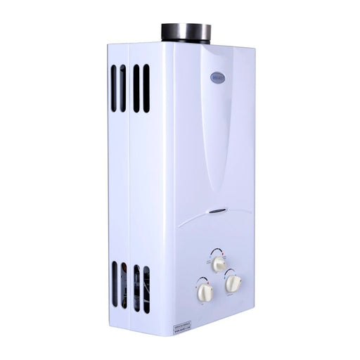 Marey Tankless Water Heater 3.1 GPM (10L) Propane Gas (LPG) Water Heater Marey- The Cabin Depot Off-Grid Off Grid Living Solutions Cabin Cottage Camp Solar Panel Water Heater Hunting Fishing Boats RVs Outdoors