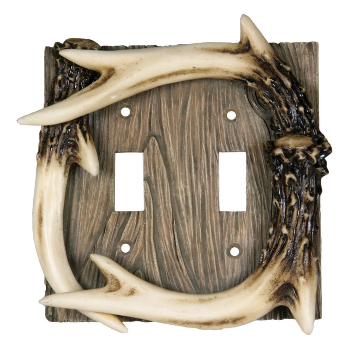 Switch Cover Plate Double - Antler