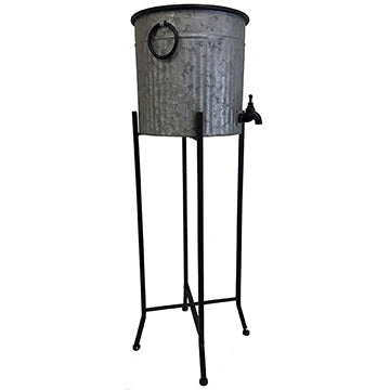 Galvanized Dispenser with working faucet and stand Leisure Wildlife Creations- The Cabin Depot Off-Grid Off Grid Living Solutions Cabin Cottage Camp Solar Panel Water Heater Hunting Fishing Boats RVs Outdoors