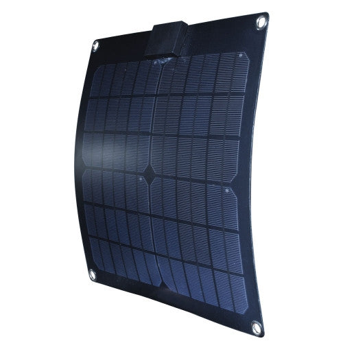 Nature Power 15W Semi Flexible Solar Panel - 12v Alternative Energy Nature Power- The Cabin Depot Off-Grid Off Grid Living Solutions Cabin Cottage Camp Solar Panel Water Heater Hunting Fishing Boats RVs Outdoors