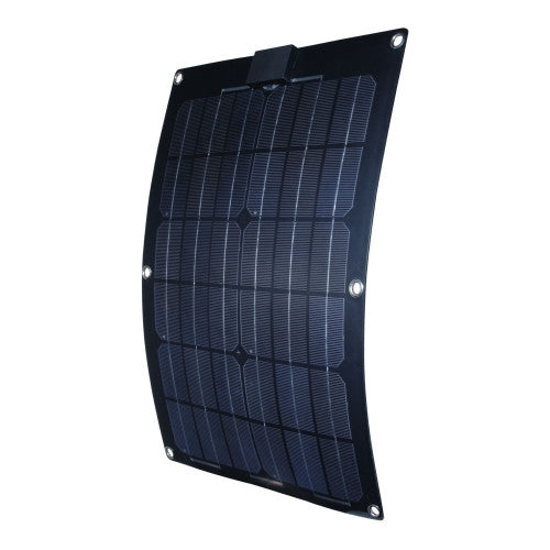 Nature Power 25W Semi Flexible Solar Panel - 12v Alternative Energy Nature Power- The Cabin Depot Off-Grid Off Grid Living Solutions Cabin Cottage Camp Solar Panel Water Heater Hunting Fishing Boats RVs Outdoors