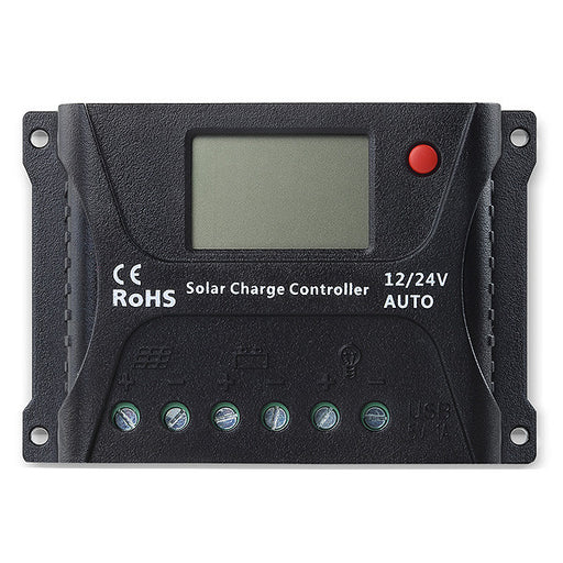 SRNE 10 Amp PWM Charge Controller  The Cabin Depot- The Cabin Depot Off-Grid Off Grid Living Solutions Cabin Cottage Camp Solar Panel Water Heater Hunting Fishing Boats RVs Outdoors