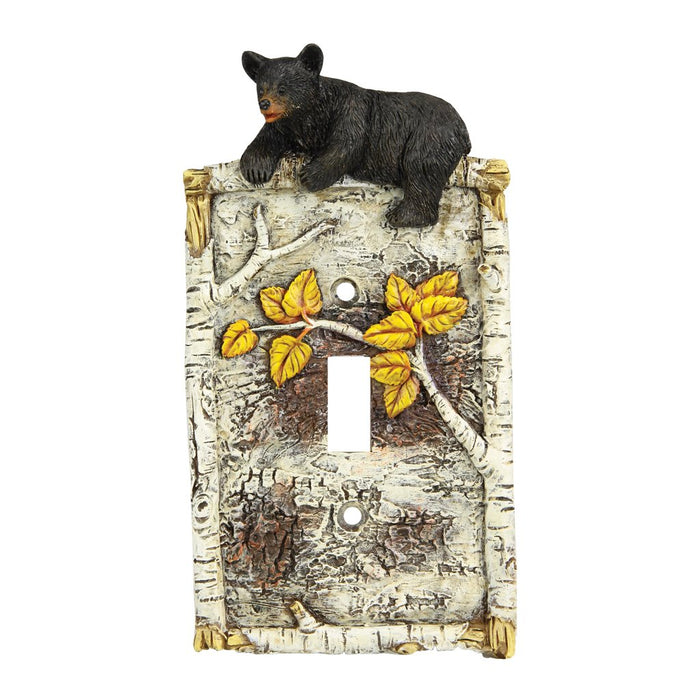Switch Plate Cover Single - Birch Bear