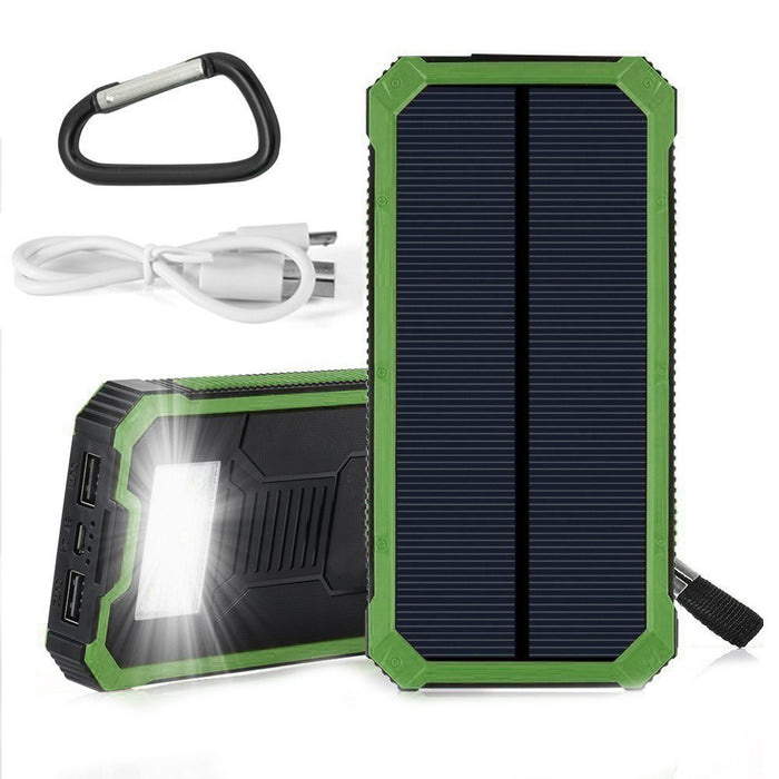 Solar Charger - Waterproof solar power bank 20000 mah Charging Solutions The Cabin Supply Depot- The Cabin Depot Off-Grid Off Grid Living Solutions Cabin Cottage Camp Solar Panel Water Heater Hunting Fishing Boats RVs Outdoors