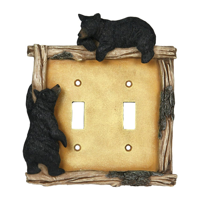 Switch Plate Cover Double - Bear
