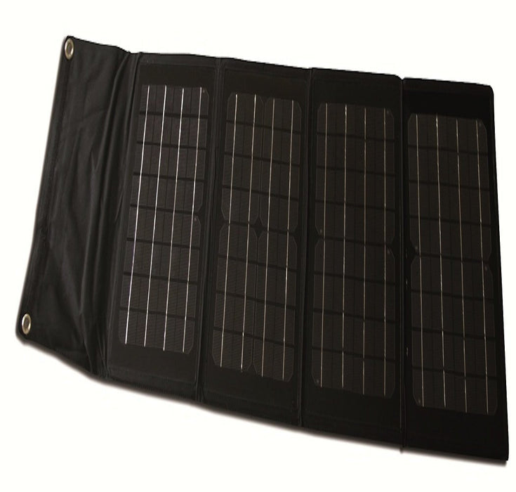 Nature Power 40W Folding Solar Panel Kit- 12V Charging Solutions Nature Power- The Cabin Depot Off-Grid Off Grid Living Solutions Cabin Cottage Camp Solar Panel Water Heater Hunting Fishing Boats RVs Outdoors